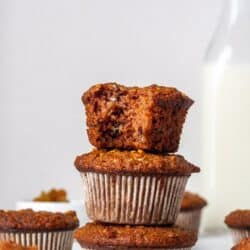 A stack of Paleo Morning Glory muffins.